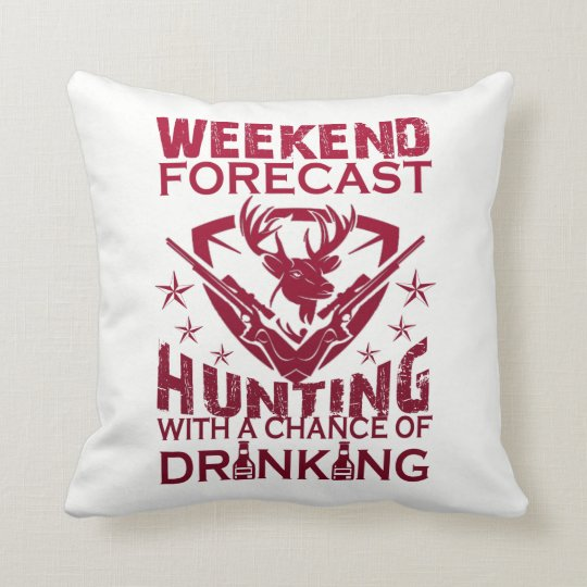 WEEKEND FORECAST HUNTING THROW PILLOW