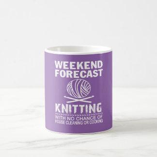 WEEKEND FORECAST KNITTING COFFEE MUG