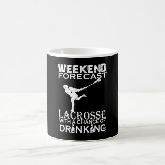 WEEKEND FORECAST LACROSSE COFFEE MUG