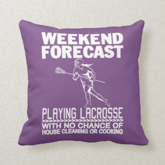WEEKEND FORECAST LACROSSE THROW PILLOW