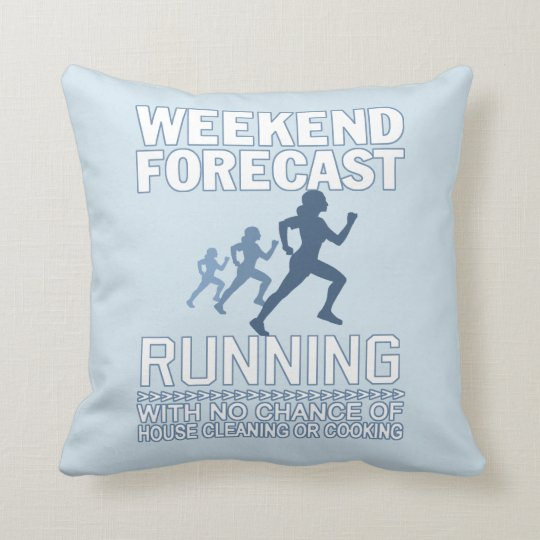 WEEKEND FORECAST RUNNING THROW PILLOW