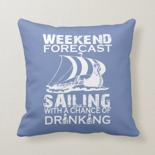 WEEKEND FORECAST SAILING THROW PILLOW