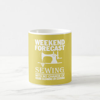 WEEKEND FORECAST SEWING COFFEE MUG