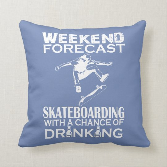 WEEKEND FORECAST SKATEBOARDING THROW PILLOW