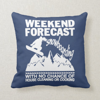 WEEKEND FORECAST SNOWBOARDING THROW PILLOW