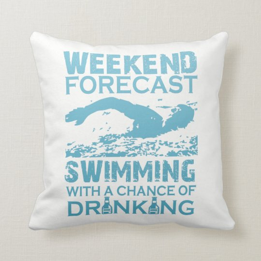 WEEKEND FORECAST SWIMMING THROW PILLOW