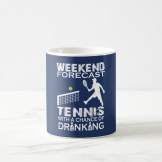 WEEKEND FORECAST TENNIS COFFEE MUG