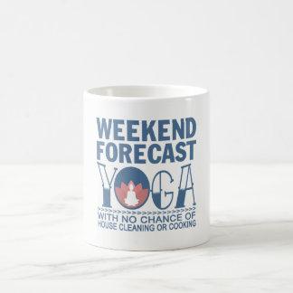 WEEKEND FORECAST YOGA COFFEE MUG