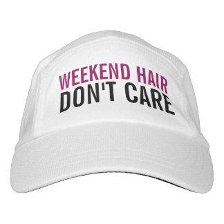 Weekend Hair Don't Care Cute Funny Fashion Women's Headsweats Hat