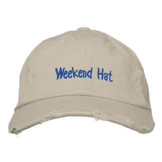 Weekend Hat Embroidered Baseball Caps