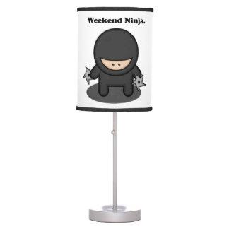 Weekend Ninja Cute Fighter Cartoon Table Lamp