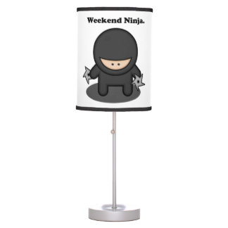 Weekend Ninja Cute Fighter Cartoon Table Lamps