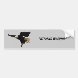 """""""Weekend Warrior"""" Bumper Sticker"""