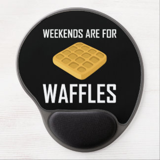 Weekends Are For Waffles Gel Mouse Pad