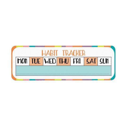 Weekly Habit Tracker - Candy shop