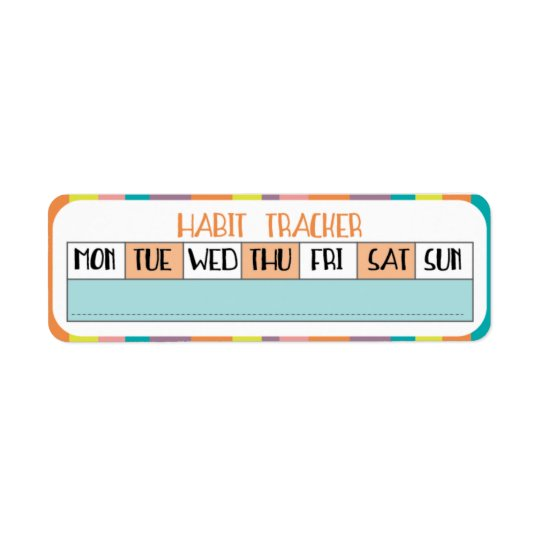 Weekly Habit Tracker - Candy shop Return Address Label