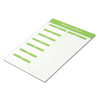 Weekly Meal Planner - Lime Notepad