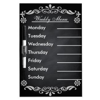 Weekly Menu Blackboard for Kitchen Dry Erase Board
