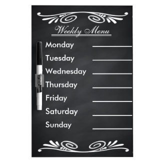Weekly Menu Blackboard for Kitchen Dry-Erase Whiteboards