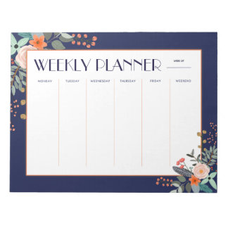 Weekly Planner Botanical Notepads