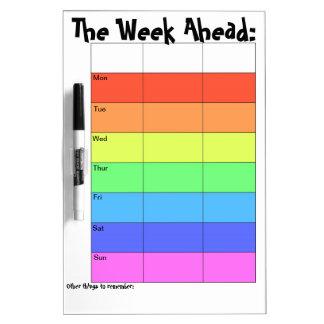 Weekly Planner- Rainbow Dry Erase Board