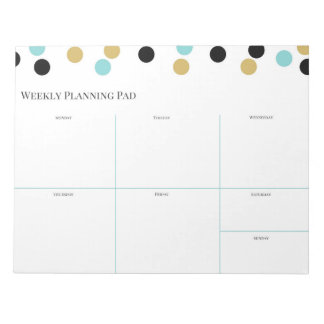 Weekly Planning Pad