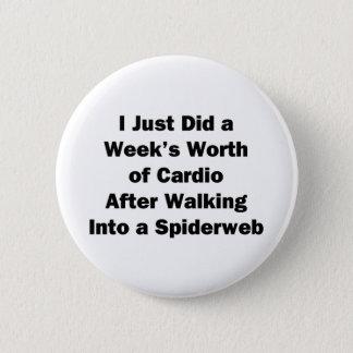 Week's Worth of Cardio 2 Inch Round Button