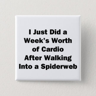 Week's Worth of Cardio 2 Inch Square Button