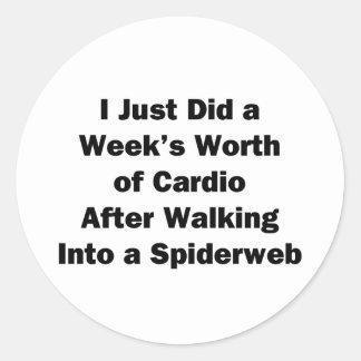 Week's Worth of Cardio Classic Round Sticker