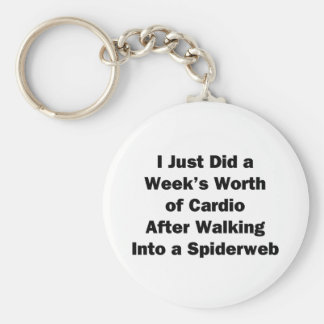 Week's Worth of Cardio Keychain