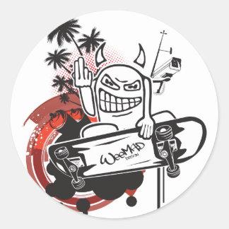 WeeMad Devil Skater Sticker