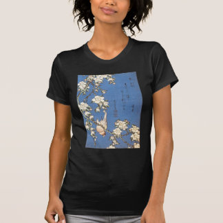 Weeping Cherry and Bullfinch by Hokusai T-Shirt