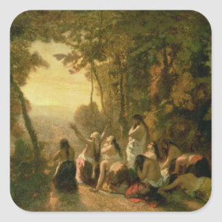 Weeping of the Daughter of Jephthah, 1846 Square Stickers