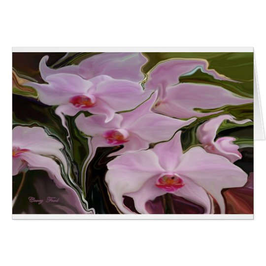 WEEPING ORCHIDS BLANK CARD