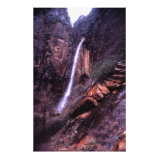 Weeping Rock Falls at Zion Canyon Open Ed Print