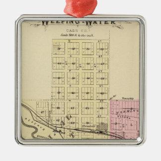 Weeping Water, Nebraska Silver-Colored Square Ornament