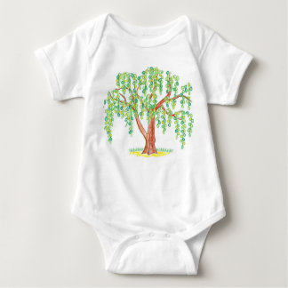 Weeping Willow Art Baby Bodysuit