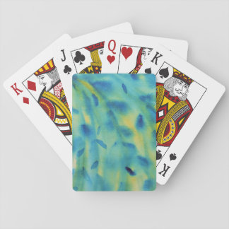 Weeping willow branches Abstract Playing Cards