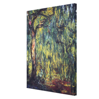 Weeping Willow by Claude Monet, Vintage Fine Art Canvas Print