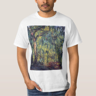 Weeping Willow by Claude Monet, Vintage Fine Art T Shirt