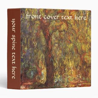 Weeping Willow by Claude Monet, Vintage Fine Art Vinyl Binder