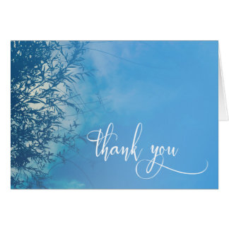 Weeping Willow Ethereal Dreamy Sky Thank You Card