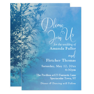 Weeping Willow Ethereal Dreamy Sky Wedding 2 Card