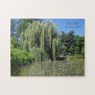 Weeping Willow on Pond Forest Park Missouri Puzzles
