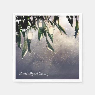 Weeping Willow Tree & Mason Jar Lights Elegant Disposable Napkin