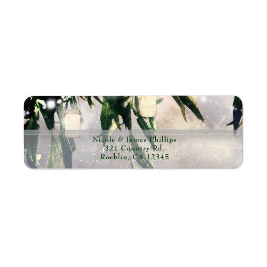 Weeping Willow Tree & Mason Jar Lights Invitation