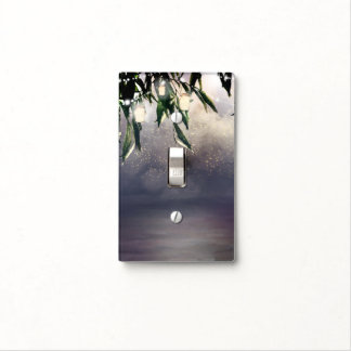 Weeping Willow Tree & Mason Jar Lights Rustic Chic Light Switch Cover