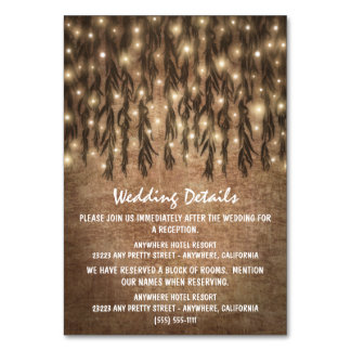 Weeping Willow Tree Vintage Wedding Insert Cards Table Cards