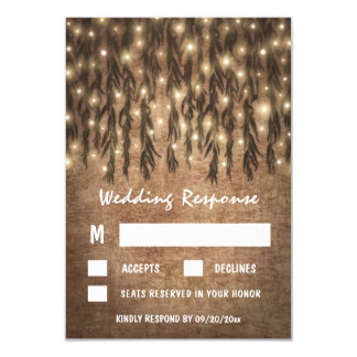 Weeping Willow Tree Vintage Wedding RSVP Cards