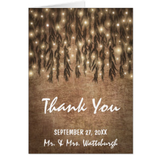 Weeping Willow Tree Vintage Wedding Thank You Card